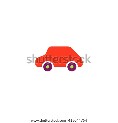 Toy Car Simple flat vector icon - stock vector