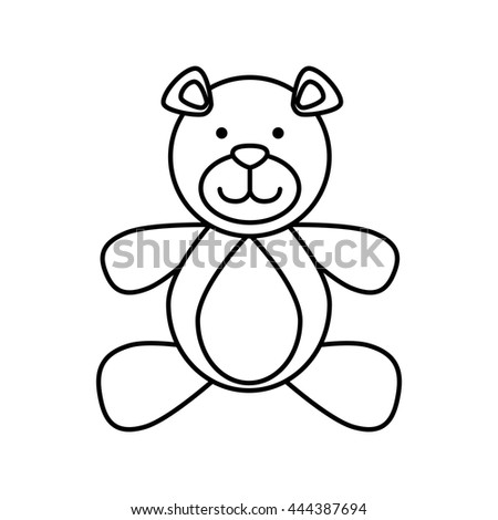 Toy concept represented by teddy bear icon. isolated and flat illustration