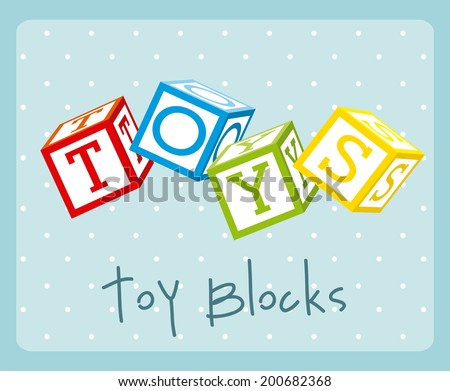 toy design over blue background vector illustration - stock vector