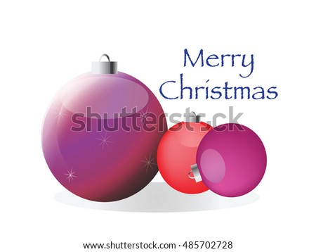 Toy for decoration of Christmas. Vector