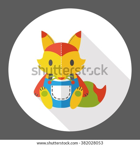 toy fox flat icon