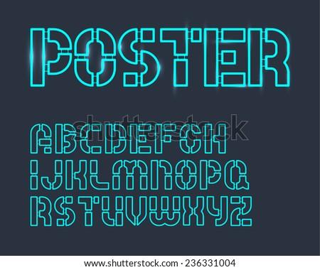 Toy Frame Alphabet Set - stock vector