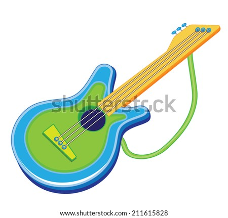 toy guitar (vector illustration) - stock vector
