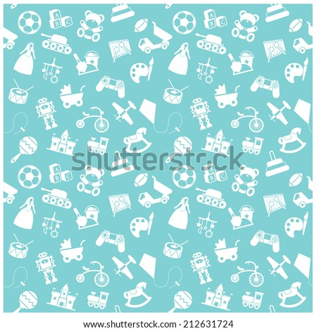toy icon and Background - stock vector