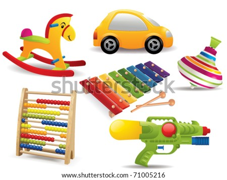 toy  set vector - stock vector