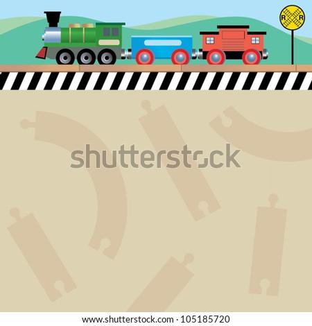 toy train - stock vector