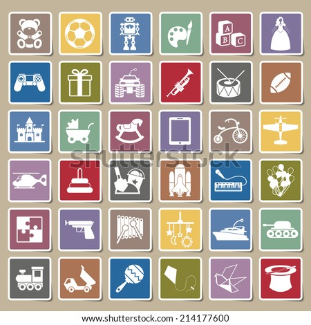 Toys icon Sticker - stock vector