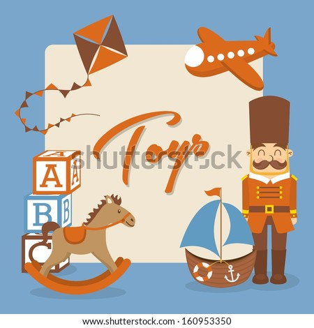 toys icons over blue  background vector illustration - stock vector