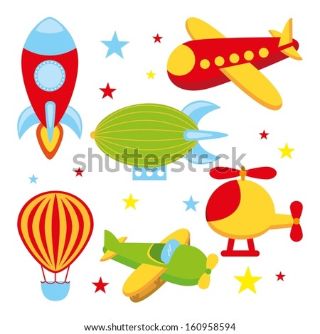 toys icons over white  background vector illustration - stock vector
