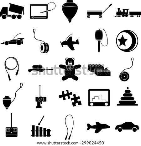 toys symbols set - stock vector