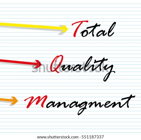 a background to total quality management Today's concept of organizational management  present the concept of the work setting as a total system  approval of risk management/quality assurance.