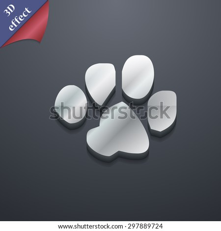 trace dogs icon symbol. 3D style. Trendy, modern design with space for your text Vector illustration - stock vector