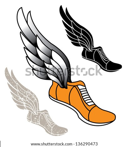 shoes with wings logos