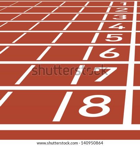 Track lane numbers. Vector. - stock vector
