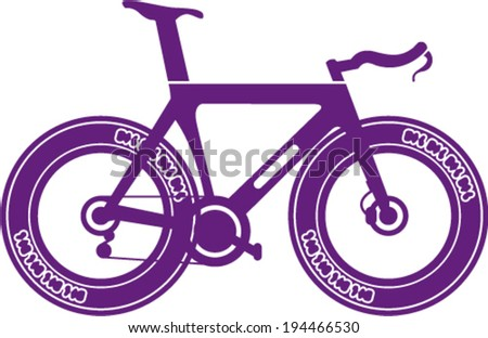 Track Racing Bicycle - stock vector