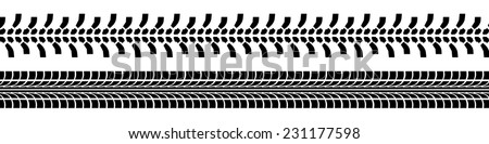 track tires - stock vector
