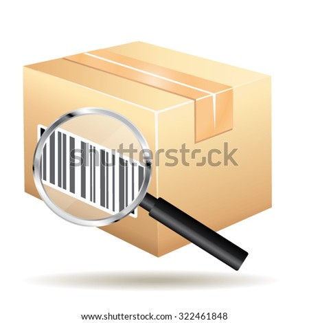 Tracking number shipping icon. Vector illustration. - stock vector