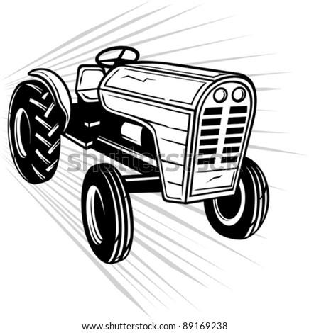 tractor - stock vector