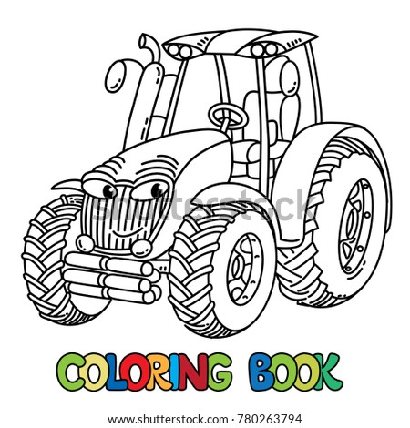 Funny Small Tractor Eyes Coloring Book Stock Vector 698708476 ...