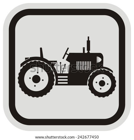 tractor, frame - stock vector