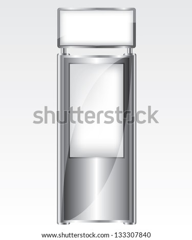 Trade exhibition metal stand illustration - stock vector