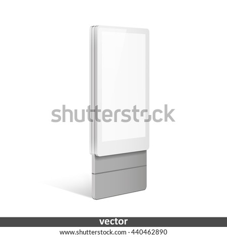 Trade exhibition stand display. Illustration isolated on white background. Graphic concept for your design - stock vector