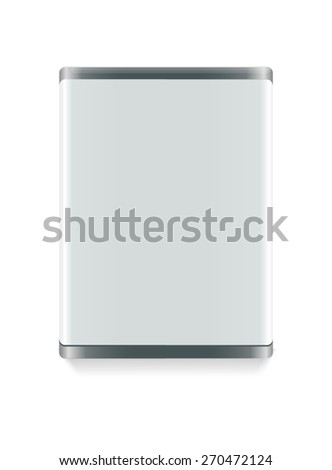 Trade exhibition stand. On white Background. Vector - stock vector