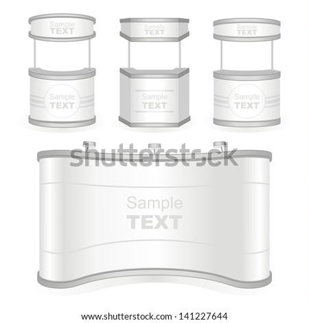 Trade exhibition stand. Vector. - stock vector