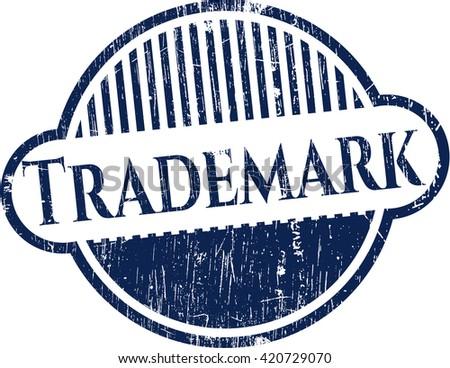 Trademark grunge style stamp - stock vector