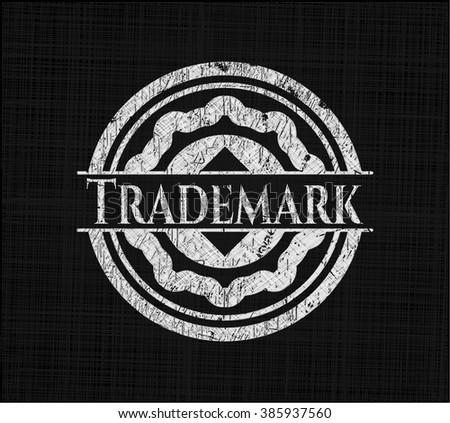 Trademark on chalkboard - stock vector