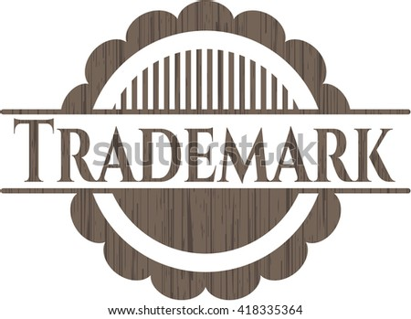 Trademark wood icon or emblem - stock vector