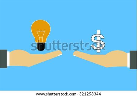 Trading ideas - stock vector