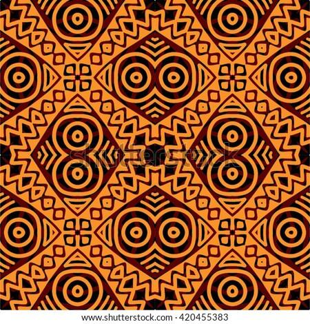 Traditional African Tribal Kitenge Inspired Seamless Stock
