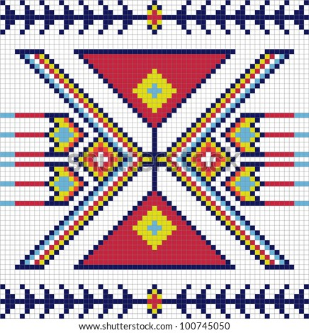 Traditional American Indian pattern, vector illustrations - stock vector