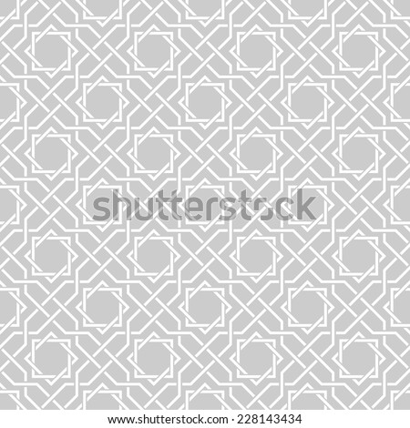 Traditional arabic tangled pattern. Seamless vector background. Plain colors - easy to recolor. - stock vector