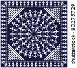 Traditional bandana design - stock vector