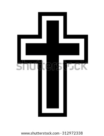 Traditional Black Vector Cross