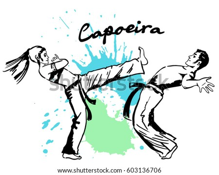 Traditional Brazilian Sport Capoeira Demonstrations Two
