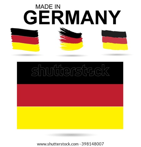 Traditional colors and flag of Germany. Vector illustration.