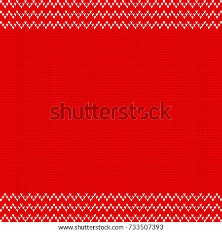 Traditional Fair Isle Style Pattern Knitted Stock Vector 733507393 ...