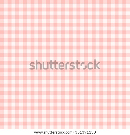 Traditional Gingham pattern in light red color. Seamless checkered vector pattern. Abstract geometric background. - stock vector