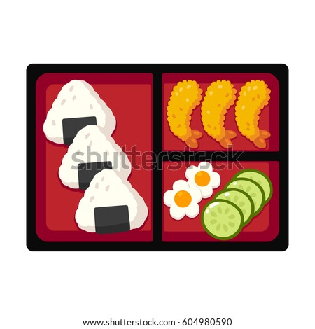 Traditional Japanese bento box lunch with rice onigiri and tempura shrimp cucumber and egg.  sc 1 st  Shutterstock & Bento Box Stock Images Royalty-Free Images u0026 Vectors | Shutterstock Aboutintivar.Com