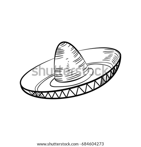 Traditional Mexican Sketch sombrero