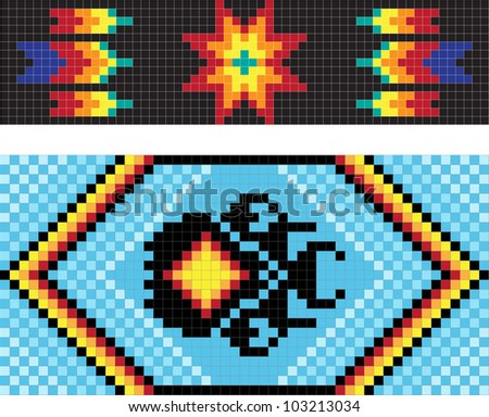 Traditional native American patterns, vector illustration