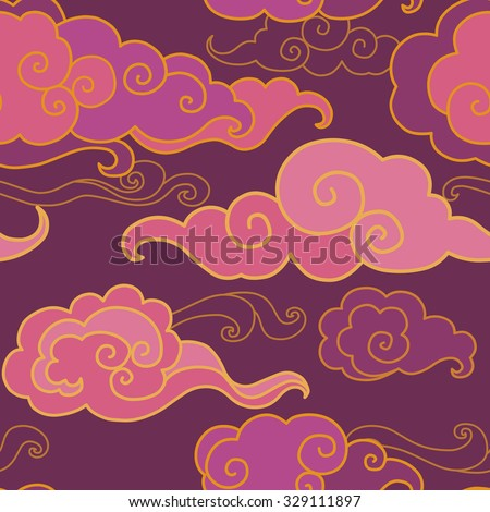 Chinese cloud pattern stock images royalty free images for Chinese clouds tattoos