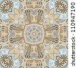 Traditional Ornamental Floral Paisley Bandanna - stock vector