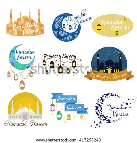 traditional ramadan kareem month celebration greeting card design, holy muslim culture, islamic religion mubarak eid background, islam holiday ramazan vector illustration