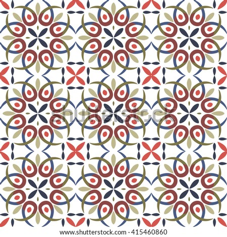 Traditional seamless pattern with Victorian motives, TILE , colored design