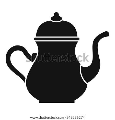 Tea Pot Silhouette Vector Stock Vector 229403134 ...