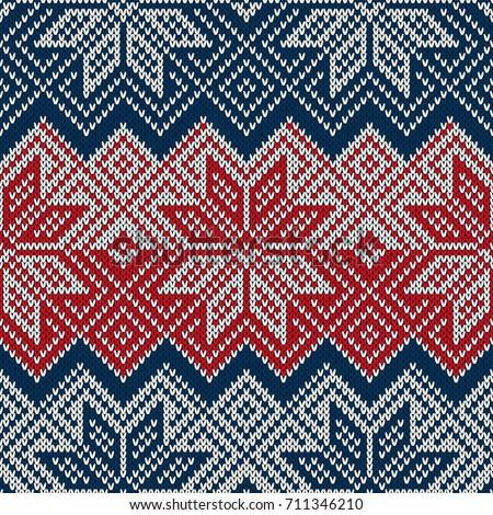Traditional Winter Holiday Seamless Knitting Pattern Stock Photo ...